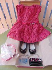 American Girl RARE Merry Magenta outfit w/shoes purse headband NIB Gr8 Gift