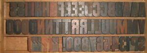 Big print Letterpress block Wooden Type Letters + symbols
