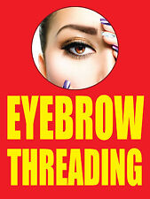 """EYEBROW THREADING 18""""x24"""" BUSINESS STORE RETAIL SIGNS"""