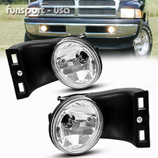 for 94-02 Dodge RAM 1500 2500 3500 Clear Lens Bumper Fog Lights Lamps Left+Right