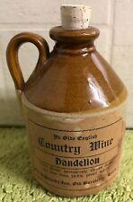 Ye Olde English Country Wine Dandelion Old Stoneware Mini Jug