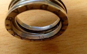 anillo BVLGARI plata 925......talla L