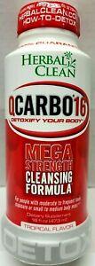 Herbal Clean Qcarbo16 Detox Cleanse Premium Same-Day Tropical 16 fl oz 04/24 NEW