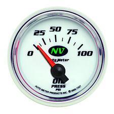 Autometer 7327 NV Series Oil Pressure Gauge, 2-1/16 in., Electrical
