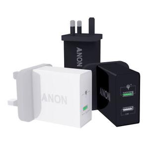 GENUINE ANON MAINS FAST CHARGER PLUG USB UK FOR SONY XPERIA L2 XA2 XZ XZ2 XA2