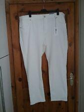 M & S Per Una Roma Womens Ivory White Slim Leg Jeans Size 24 Regular BNWT