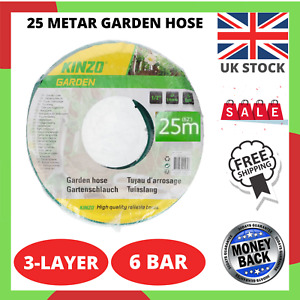NEW Kinzo Garden Hose 25 metar Rain Forced Green Water Pipe Reel For Outdoor