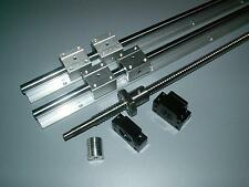 SBR16-900mm 2 linear rail+ballscrew RM1605-900mm+1 set BK/BF12 end bearing CNC