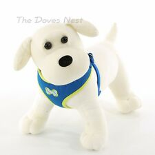 TOP PAW X-SMALL Male Dog GREEN & BLUE COMFORT HARNESS with STRIPE BONE Soft Vest