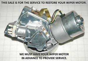 1963-67 YOUR  CORVETTE WIPER MOTOR & PUMP RESTORED TO PERFECT CONDITION 518 602