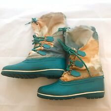 Sorel  Teal Winter Waterproof  Snow Rain Boots  Size 6