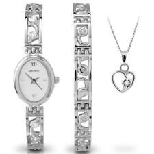 Sekonda 4805G Art Deco Style Watch, Armband & Anhänger Geschenk Set Rrp £ 99.99