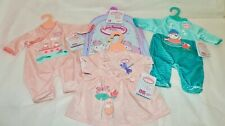 NEW Baby Annabell CLOTHING + BACKPACK Bundle - Includes 1 Dress + 2 Rompers