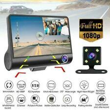"""1080P 4"""" Dual Lens Car DVR Rearview Video Dash Cam G-sensor Supp Camera Rec H0Z2"""