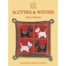 Scotties & Westies perros Alfiletero puntada cruzada contada Kit por herencia textil
