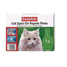 Cat Spot on Treatment Repels Fleas up to 4 Week Protection