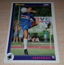 CARD SCORE 1993 SAMPDORIA MANCINI CALCIO FOOTBALL SOCCER ALBUM