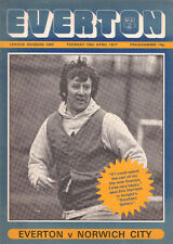 EVERTON v NORWICH CITY ~1977~DIVISION 1~ MATCHDAY PROGRAMME~VERY GOOD CONDITION~