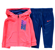 NIKE baby girl 2pc Hooded fleece TRACKSUIT 6/9M Nike Therma/Dri-Fit (75cm) BNWT
