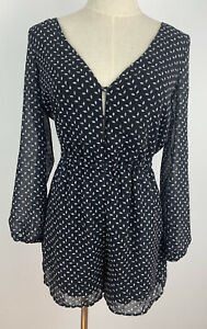 KOOKAI Womens Stunning Black Jumpsuit Playsuit Size 36 Lined Party Cocktail Wear
