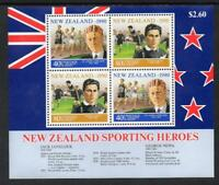 1990 New Zealand~Sporting Heroes~Unmounted Mint M/S~Stamp Set~UK Seller