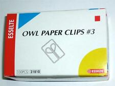 Esselte Owl paper clips #3 box 100 pcs No.3 code: 31810 about 25mmx15mm