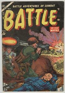 Battle #27 March 1954 G/VG bazooka cover