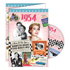 1954 Year Of Birth Greeting Card with Dvd