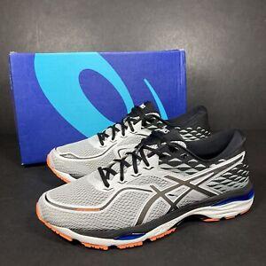 Asics Gel-Cumulus 19 Mens Grey Black Trainers Running Shoes Active Gym UK 12 VGC