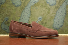 Loake Eton Plum Suede Loafer 7F - FACTORY FIRST CLEARANCE - RRP £170 (14303)