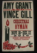 Amy Grant &  Vince Gill Hatch Show Print Chrismas At The Ryman 2016 Poster