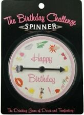 """Party Game """"THE BIRTHDAY CHALLENGE SPINNER"""" Drinking Game of Dares & Tomfoolery"""