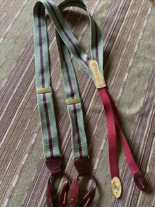 Men's Nice Multi-Color MARTIN DINGMAN Dress Suspenders GREAT Condition