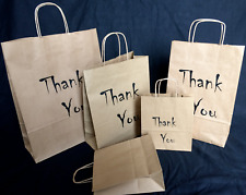 Paper Printed Carrier Bags Eco Gift Wedding Christmas - Thank You
