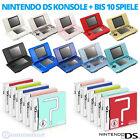 Nintendo DS Handheld Konsole + Spiele / auch für GameBoy Advance Games!