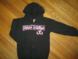 TOLEDO WALLEYE HOODIE Zip-Up Sweatshirt Hooded Minor League Hockey Kids YOUTH SM