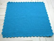 Crochet Baby Blanket ~Small Size~ Electric Blue