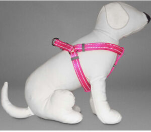 Good To Go Reflective Dog Harness Hot Pink 19-30in Size Medium New