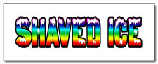 """48"""" Shaved Ice Concession Decal cart trailer stand sticker equipment"""