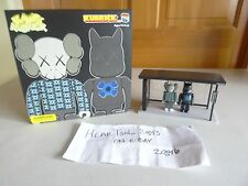 RARE NEW KAWS ORIGINALFAKE KidRobots Kubrick BusStop series 2 - 100%AUTHENTIC