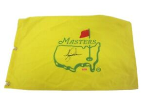 Tiger Woods Authentic Signed Autographed Undated Masters Yellow Golf Flag COA