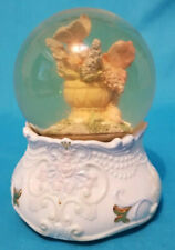 Vintage water globe with butterflies in it plays Tune To ice castle Okay Conditi