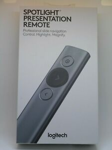 New Logitech Spotlight Wireless Presentation Remote Control (Slate)