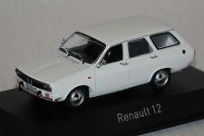 Renault 12 Break 1972 blanc 1:43 NOREV NOUVEAU & OVP 511225