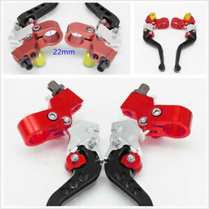 Left & Right CNC Aluminum Alloy 22mm Motorcycle Brake Clutch Levers Drum Brake