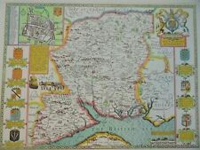 OLD COPY OF JOHN SPEED 1610 MAP OF HAMPSHIRE WINCHESTER TOWN PLAN NEW FOREST