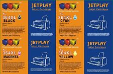 4 JETPLAY ink cartridges to Replace HP Multipack HP364 HP364XL Boxed with Chips