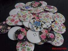 40pcs 40mm fashion Scrapbooking Sewing Good nature wood buttons women coat mixed