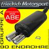 FRIEDRICH MOTORSPORT SPORTAUSPUFF FIAT 500 1.2L 1.3L JTD 1.4L 16V