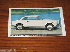 ALFA ROMEO GIULIETTA 1300=FIGURINA=1965/66=ALBUM FIGURINE AUTOMOBILI D'OGGI